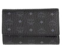 Color Visetos Three Fold Medium Wallet Black