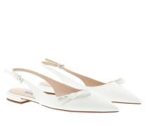 Schuhe Slingback Ballerina Leather White weiß