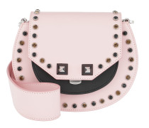 Mari Bling Studded Shoulder Bag Pink Tasche