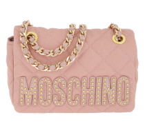 Small Metal Chain Shoulder Bag Rose Tasche