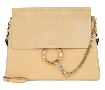 Faye Tote Bag Suede Flap Subtle Yellow gelb