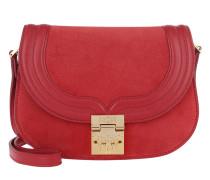 Trisha Suede Shoulder Bag Small Red Tasche