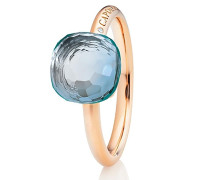 Ring Happy Holi Topas Sky Blue Cabochon Rosegold