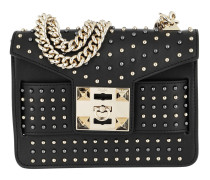 Mila Star Studded Metal Chain Shoulder Bag Black Tasche