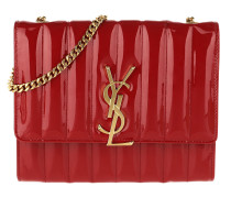 Umhängetasche YSL Chain Wallet Leather Rouge Eros rot