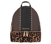 Rucksack Rhea Zip Backpack Brown Multi braun