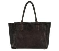 Shopping Bag Media Rivet Vachette Grigio
