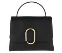 Satchel Bag Alix Mini Top Handle Black Brass