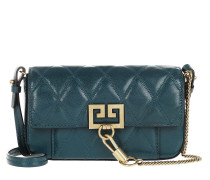 Umhängetasche Mini Pocket Bag Diamond Quilted Leather Prussian Blue grün