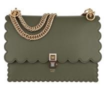 Kan I Shoulder Bag Leather Green Satchel Bag