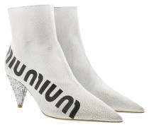 Casual Style Ankle Boots White/Silver Schuhe