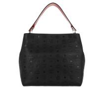 Klara Monogrammed Hobo Bag Medium Black