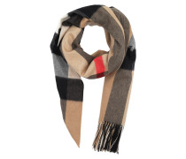 Oversized Wrap Scarf Camel Check Schal