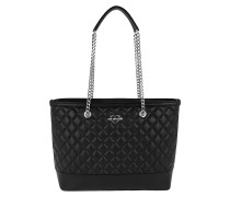 Quilted Nappa Chain Shopping Bag Nero