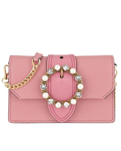 Bejeweled Buckle Belt Bag Rosa1 Tasche