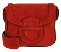 Umhängetasche Vega Suede Crossbody Bag Small Coquelicot rot