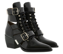 Boots Reilly 60 Buckle Embellished Ankle Boots Leather Black schwarz