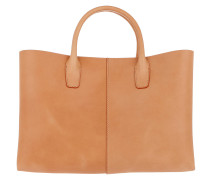 Classic Top Handle Tote Leather Cammello/Rosa Tote