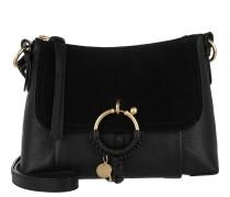 Umhängetasche Joan Grained Shoulder Bag Leather Black schwarz