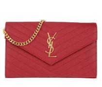 Monogramme Chain Wallet Rouge Eros Satchel Bag