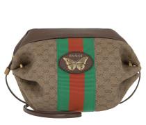 Umhängetasche GG Mini Bag Web Butterfly Beige/Ebony beige