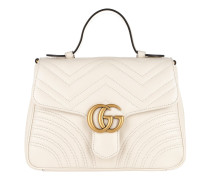 GG Marmont Small Top Handle Bag White Tasche