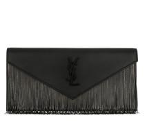 Fringe Clutch Leather Black Clutch