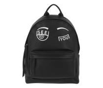 See You Backpack Black Rucksack