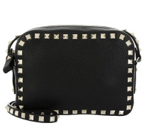 Rockstud Camera Crossbody Bag Grained Black Tasche