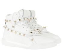 Sneakers Rockstud High Top Bianco