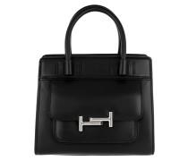 Mini Double T-Bag Black Tote