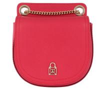 Leather Crossbody Bag1 Vivid Red Tasche