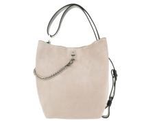 Beuteltasche GV Bucket Bag Medium Leather Natural Silver beige