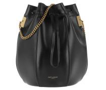 Beuteltasche Talitha Small Bucket Bag Smooth Leather Black schwarz