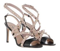 Rockstud Strap Sandals Nero/Poudre Pumps