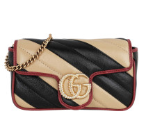 Umhängetasche GG Marmont Super Mini Bag Leather Beige/Black bunt