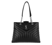 LouLou Shopping Bag Large Y-Quilted Leather Black Tote