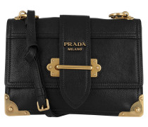 Umhängetasche Mini Bag Leather Black/Gold schwarz