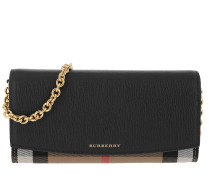 Detachable Strap Flap Bag Black