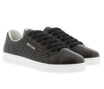 Sneakers Matelassé W Logo Leather Nero/Bianco Sneakers