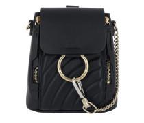 Faye Backpack Leather Full Blue Rucksack