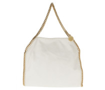 Tote Falabella Shaggy Deer Small Tote Maple Chalk weiß