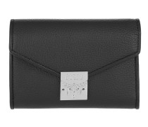 Patricia Park Avenue Flap Wallet Tri-Fold Small Black