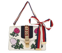 Sylvie Embroidered Small Shoulder Bag White/Multi Tasche