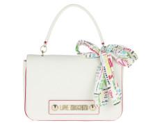 Umhängetasche Soft Grain Pu Shoulder Bag Bianco weiß