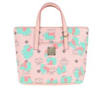 Tote Anya Floral Leopard Shopping Bag Mini Powder Pink
