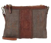 Braided Leather Pochette Acciaio/ Tasche