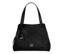 Signature Monogrammed Hobo Black Bag