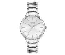 Uhr Women Quartz Watch Signature Silver