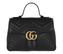 GG Marmont Small Top Handle Bag Black Tasche